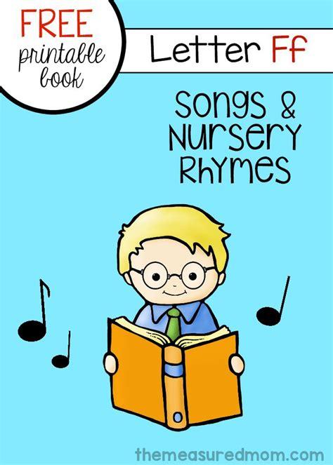 alphabet printing rhymes letter f minibook rhymes songs printable letters