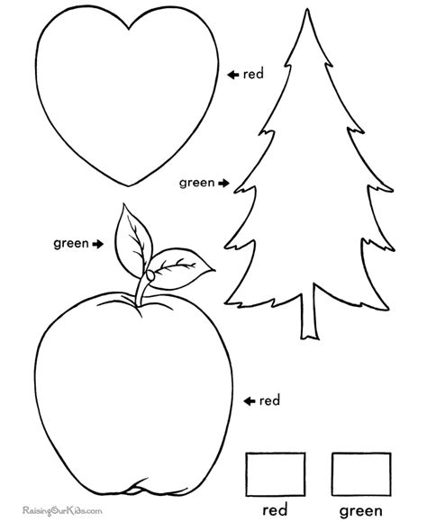 learning colors worksheets for toddlers 003