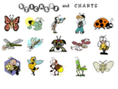 printable bug stickers free printable insect stickers free insect sticker charts