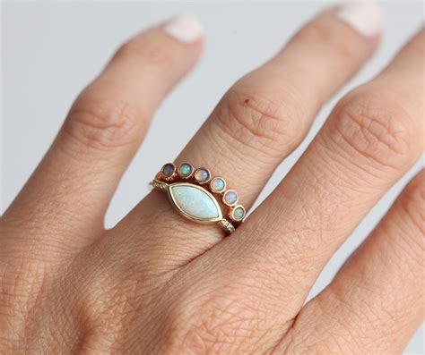 Wedding Rings Opal by Opal Ring Opal Wedding Ring Opal Wedding Band Gold