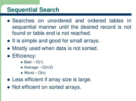 Sequential Search Worst Hashing Technique In Data Structures