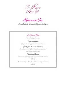 tea menu template 17 best images about afternoon tea on pastel