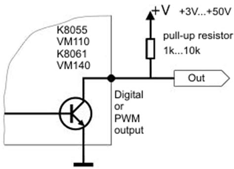 pull up resistor op output connecting vm110n to industrial equipment general velleman projects