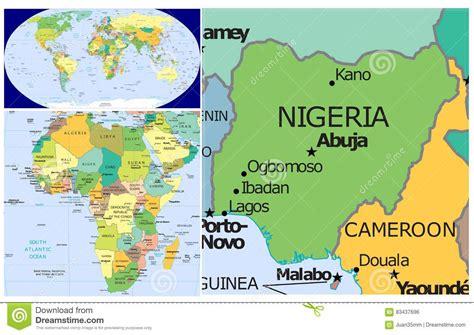 where is nigeria on a world map nigeria on world map besttabletfor me