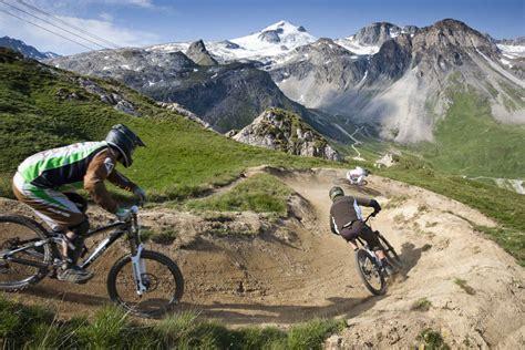 mtb le mountain biking in tignes active azur