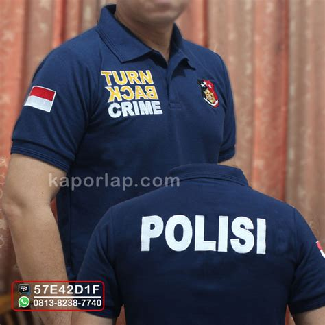 Best Price Kaos Polo Shirt Tbc Turn Back Crime Turn Kcab Crime kaos tbc reskrim toko kaporlap