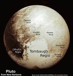 This new global mosaic view of pluto was created from the latest high
