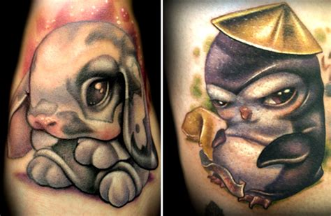 animal tattoo cartoons art sci cute cartoon tattoos