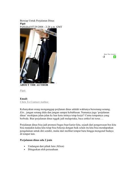 Surat Perjalanan Bisnis by Perjalanan Bisnis