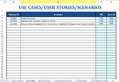 use cases exles template 10 use template excel exceltemplates exceltemplates