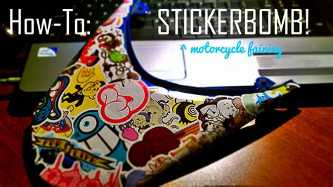 Coole Roller Aufkleber by How To Stickerbomb Motorcycle Youtube