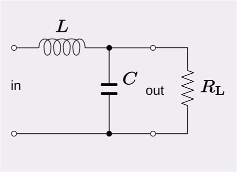 low pass filter using capacitor and inductor file rlc low pass svg