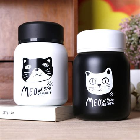 Vacuum Bottle Shuma Termos Travelling Ukuran 350ml 220ml 350ml healthy mini japanese cat stainless steel travel thermos bottle coffee thermo