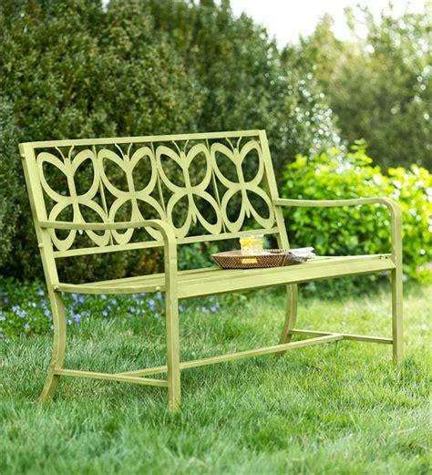 green garden bench metal butterfly garden bench garden furniture
