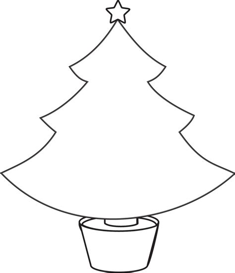 christmas tree outline clipartion com coloring home