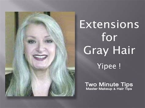 gray hair pieces for thinning hair extensions for gray hair yipee a youtube