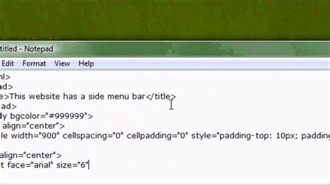 Website Top Bar Html Website Design Tutorial How To Make A Side Menu Bar