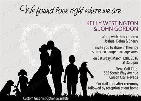 Wedding Announcement Blended Family by Blended Family Wedding Invitation By H20whitelacepromises