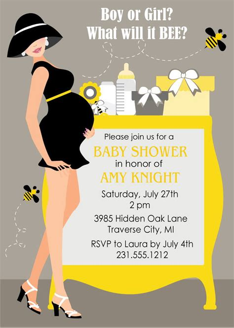 Bee Baby Shower Invitations by Bumble Bee Baby Shower Invitations Gender Neutral Shower