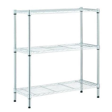 hdx wire shelving hdx 3 shelf 24 in w x 14 in l x 30 in h storage unit 31424ps yow the home depot