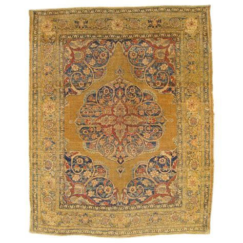 Small Decorative Rugs by Antique Tabriz Decorative Small Rug For