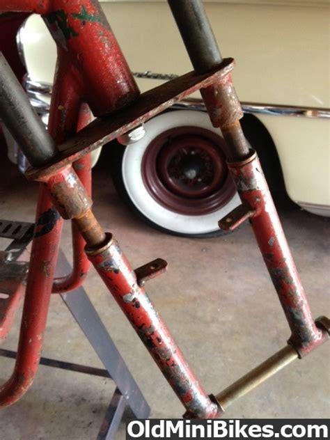 doodle bug mini bike front fork fox doodle bug front fork help needed