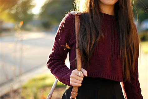 Black Tree Skirt For Christmas - fashion sweater style hipster chic brunette autumn knitted burgundy cropped annesophief