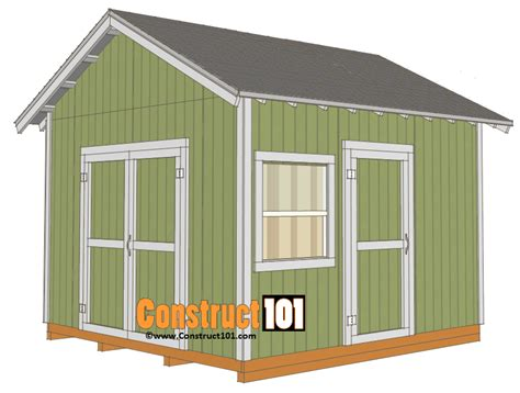 gable barn plans 12x12 shed plans gable shed construct101