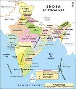 Indian States Map by India Political Map Shows All The States And Union