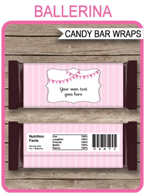 ballerina hershey candy bar wrappers personalized candy bars