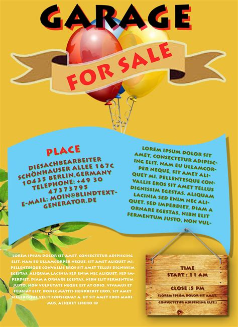 Free Printable Garage Sale Flyers Templates Attract More Customers Demplates Flyer Templates