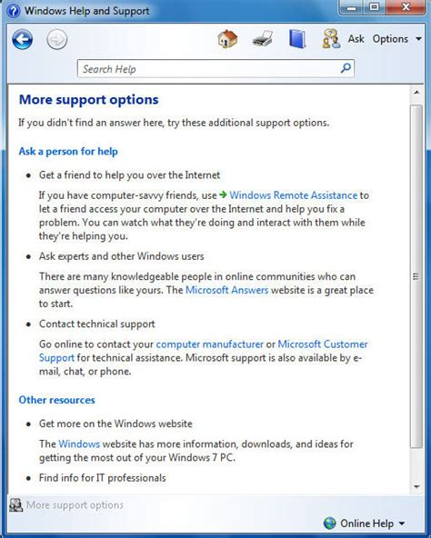 online tutorial windows 7 using the windows 7 help and support center