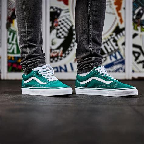 mens shoes vans  skool suedecanvas ultramarine greentrue white vagmwi