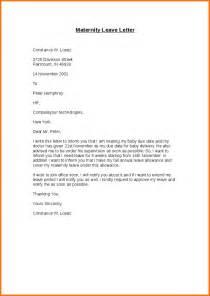 Certification Letter For Maternity Leave 6 Simple Leave Letter Samples Servey Template Sample
