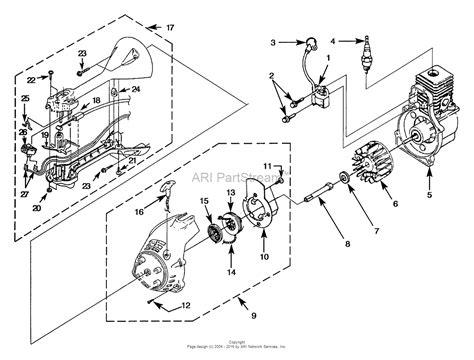 homelite icd string trimmer ut  parts diagram  ignition rotor starter