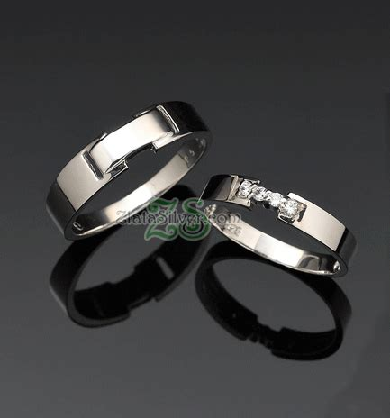 Cincin Palladium Nikah Perak Pasangan Tunangan Kawin 182 model cincin kawin emas perak palladium masami zlata silver
