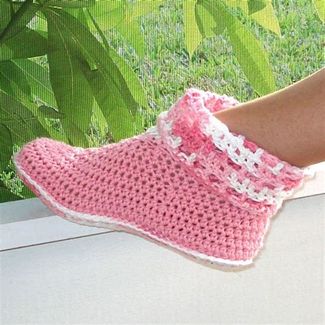 crochet ideas for women on pintrest 4 95 crochet pattern slippers cuffed boots women kids pdf