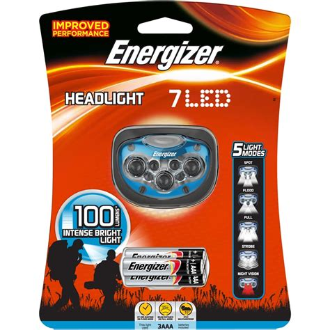 Lu Senter Energizer Advanced Headlight 4 Led energizer 7 led headlight sku 00174215 bunnings warehouse