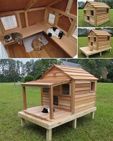 17 best ideas about outdoor cat houses on