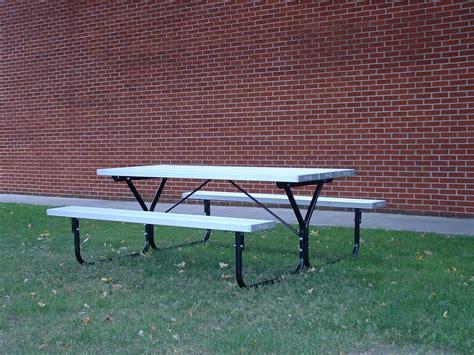 metal picnic bench metal picnic table 6 foot
