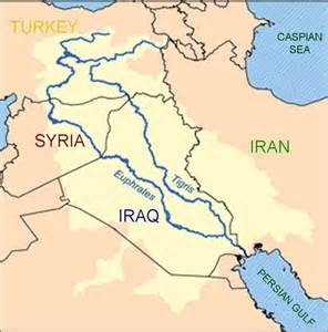 rivers in iraq map the conflict between turkey syria and iraq the