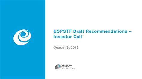 regarding u s preventive services task draft