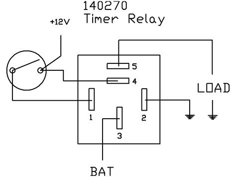 relay circuit diagram timer relay 10 minutes