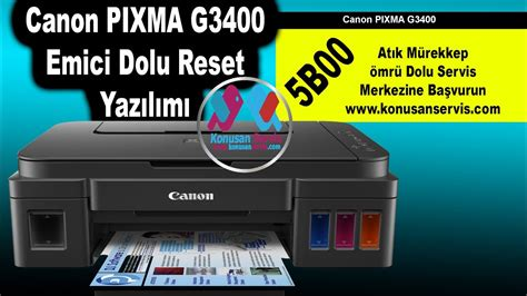 how to download resetter in canon pixma ix6560 canon pixma g3400 reset emici dolu yazılımı youtube