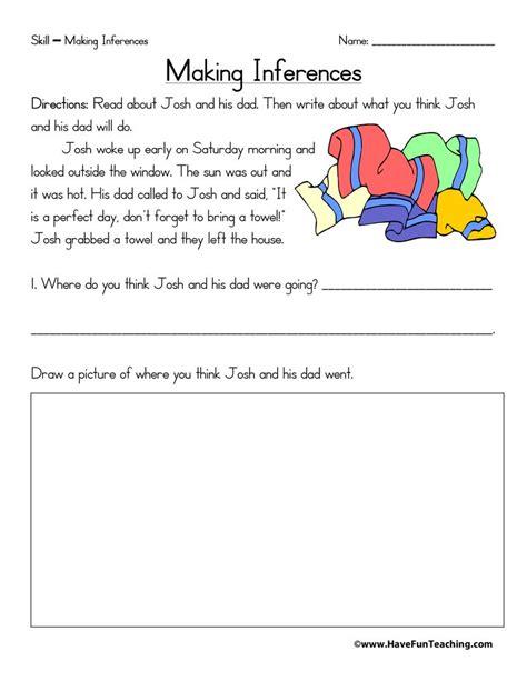 Inferences Worksheet 4