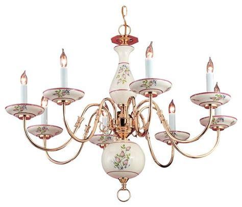 crystorama hton 8 light chandelier crystorama classic ceramic 8 light polished brass