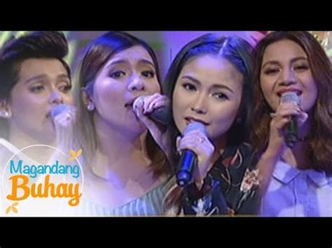 aiza kyla yeng sing don t is on asap magandang buhay yeng kz kyla angeline sing quot pasko sa