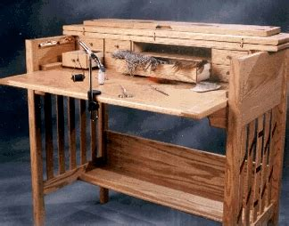 wooden fly tying desk woodworking plans plans pdf