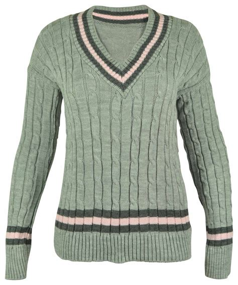 Ca161 New Rope Knit Top new v neck cable knitted cricket jumper womens stretch top size 8 16