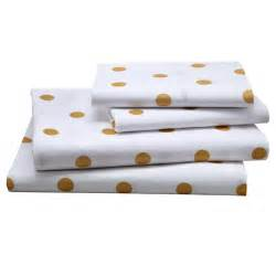 800 Thread Count Duvet Cover Kids Sheet Set Gold Polka Dotted Sheet Set The Land Of Nod